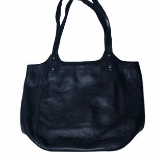 The Sak Happy and Free Pebbled Black Leather Bag.